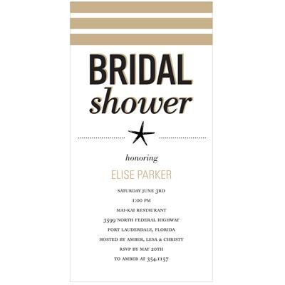 Wedded Life's a Beach Bridal Shower Invitations