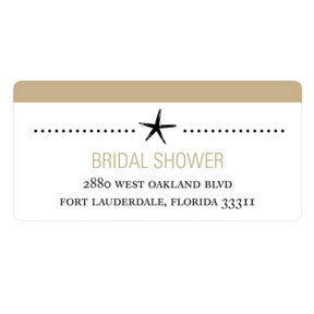 Wedded Life's a Beach -- Bridal Shower Address Labels