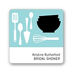 All Things Kitchen in Blue -- Wedding Favor Stickers
