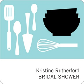 All Things Kitchen in Blue -- Bridal Shower Decorations