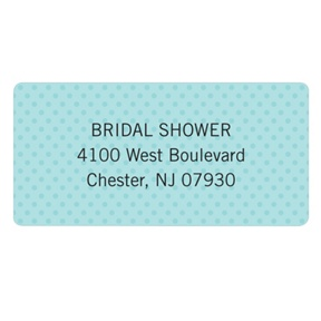 Something Blue -- Bridal Shower Address Labels