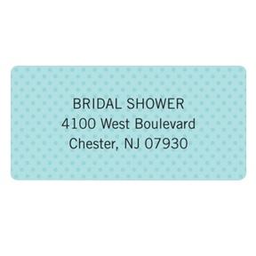 Something Blue -- Bridal Shower Address Labels