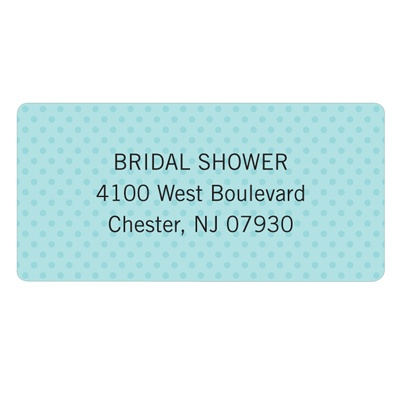 Something Blue Bridal Shower Address Labels