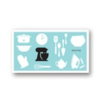 All Things Kitchen in Blue -- Bridal Shower Thank You Notes