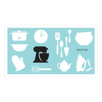 All Things Kitchen in Blue Bridal Shower Thank You Cards