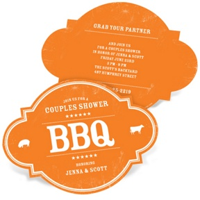 Bridal BBQ -- Couples Bridal Shower Invitations