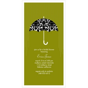 Raining Love -- Umbrella Bridal Shower Invitations