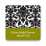 Bold Damask -- Wedding Favor Stickers
