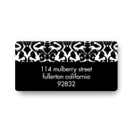 Bold Damask -- Bridal Shower Address Labels