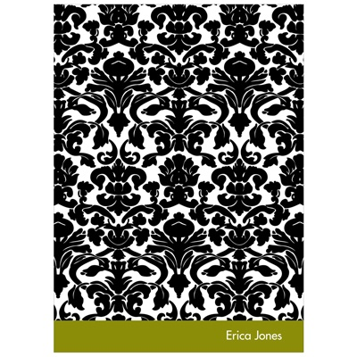 Bold Damask Bridal Shower Thank You Cards