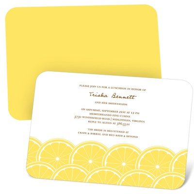 Sweet Slices Fun Bridal Shower Invitations