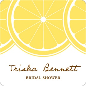 Sweet Lemon Slices -- Bridal Shower Decorations