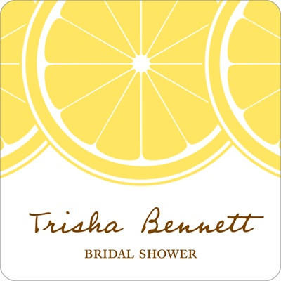 Sweet Lemon Slices -- Wedding Favor Stickers
