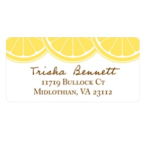 Sweet Lemon Slices -- Bridal Shower Address Labels