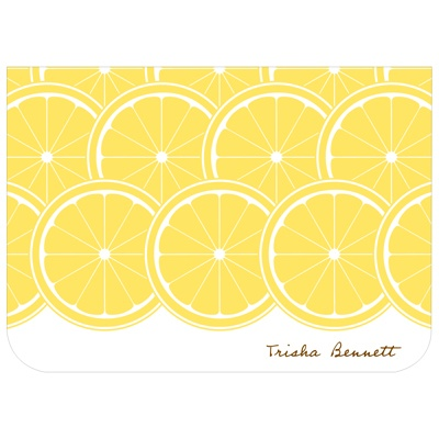 Sweet Lemon Slices -- Bridal Shower Thank You Notes