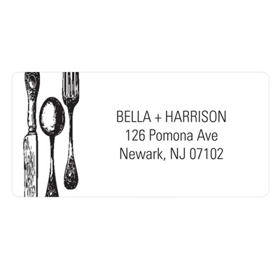 Dinner is Served Wedding Address Label