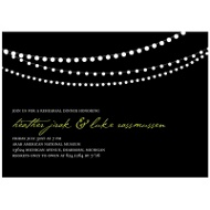 Trendy Light Show Rehearsal Dinner Party Invitations