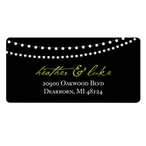 Trendy Light Show -- Wedding Return Address Label