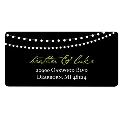 Trendy Light Show Wedding Return Address Label