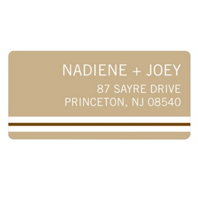 Crisp Stripe -- Wedding Address Label