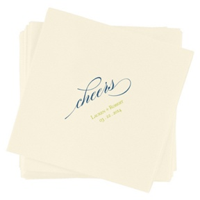 Toast to the Newlyweds -- Custom Beverage Napkins