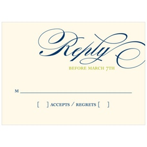 Sweet Calligraphy-- Wedding Reply Cards
