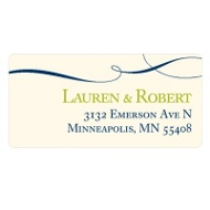 Flowing Love Wedding Address Label