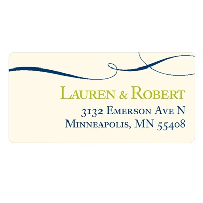 Flowing Love Wedding Address Label