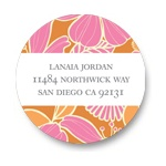 Tropical Twist -- Bridal Shower Address Labels