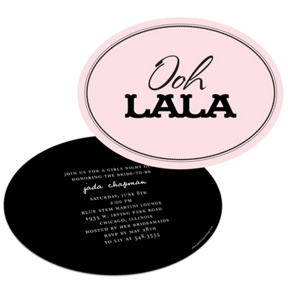 Ooh La La Lingerie -- Bachelorette Party Invitations
