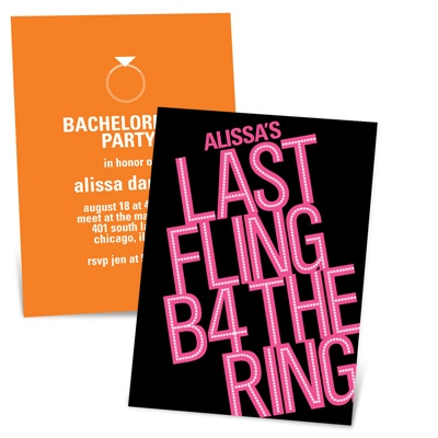 Showtime Fun Fun Bachelorette Party Invitations