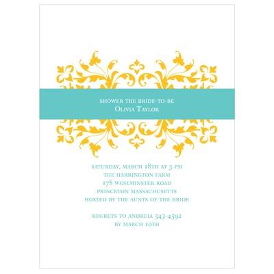 Chic Vines  Bridal Shower Invitations