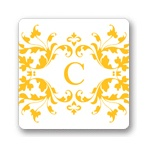 Monogram Vines -- Wedding Favor Stickers