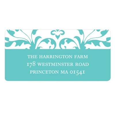 Chic Vines Bridal Shower Address Labels