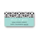 Mirrored Renaissance Design -- Stylish Wedding Address Label