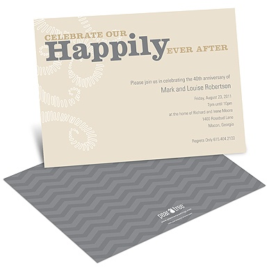 Happily Ever After Anniversary Invitations
