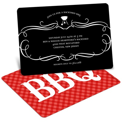 Grilling Time BBQ Invitations