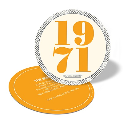 Bold Numbers -- Birthday Party Invitations