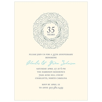Elegant Design Wreath Anniversary Cards