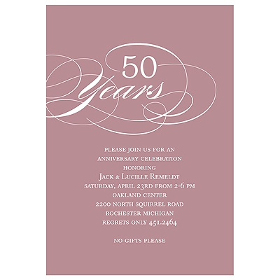 Classy Script  and Colorful Anniversary Party Invitations