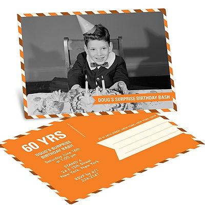 Postal Delivery Horizontal Birthday Invitation Postcards