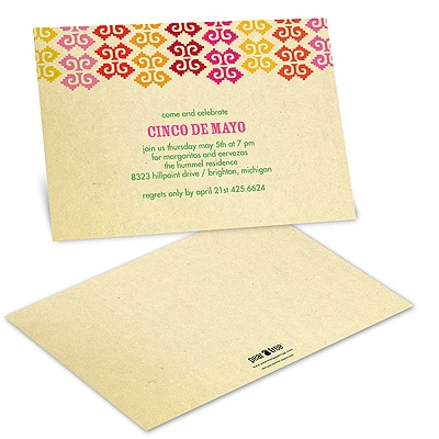 Fiesta Time Cinco De Mayo Invitations
