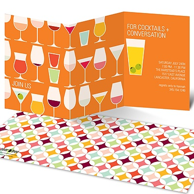 Cocktails and Convos Cocktail Party Invitations