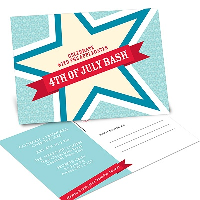Big Star Bash Party Postcards