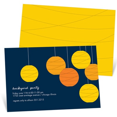 Glowing Affair Backyard Party Invitations