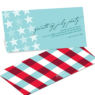 Stars and Stripes 4th of July Party Invitations