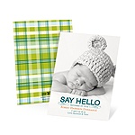 Hello Baby Boy -- Photo Vintage Baby Announcements