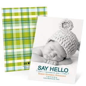 Hello Baby Boy -- Birth Announcements