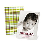 Hello Baby Girl -- Photo Vintage Baby Announcements