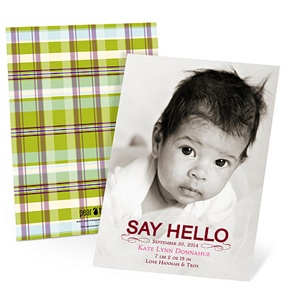 Hello Baby Girl -- Birth Announcements